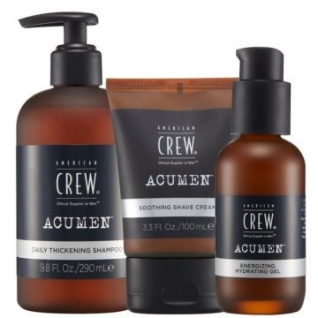 ACUMEN TRAVEL ESSENTIALS KIT - DAILY SHAMPOO, SOOTHING SHAVE CREAM & HYDRATING GEL