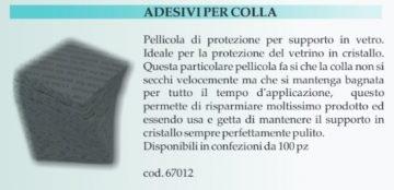 ADESIVI DI PROTEZIONE PER VETRINI CONF. 100PZ.