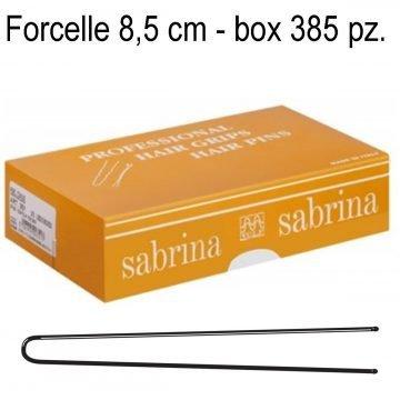FORCELLE PER MESSA IN PIEGA 8,5 CM. LISCIO NERO BOX 55 BUSTINE DA 7 PZ.