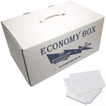 MANTELLINE COLORE PIEGATE BIANCHE BOX 500 PZ.