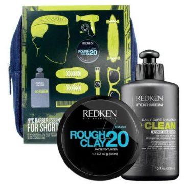 BARBER KIT FOR SHORT HAIR: GO CLEAN SHAMPOO + ROUGH CLAY 20 MATTE TEXTURIZER