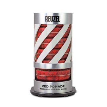 REUZEL EXPO GRAVITY FEED RED POMADE (6 POMADE + EXPO OMAGGIO)