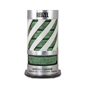 REUZEL EXPO GRAVITY FEED GREEN POMADE (6 POMADE + EXPO OMAGGIO)