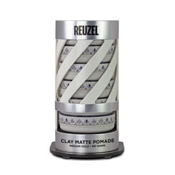 REUZEL EXPO GRAVITY FEED CLAY MATTE POMADE (6 POMADE + EXPO OMAGGIO)