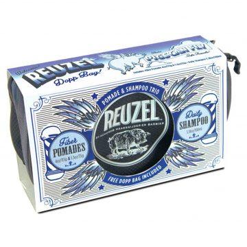 REUZEL DOPP BAG CON 2 FIBER POMADE 35 E 113 GR + DAILY SHAMPOO 100 ML + BAG