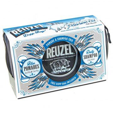 REUZEL DOPP BAG CON 2 BLUE POMADE 35 E 113 GR + DAILY SHAMPOO 100 ML + BAG
