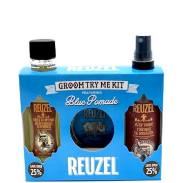 REUZEL GROOM TRY ME KIT FEATURING BLUE POMADE