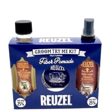 REUZEL GROOM TRY ME KIT FEATURING FIBER POMADE