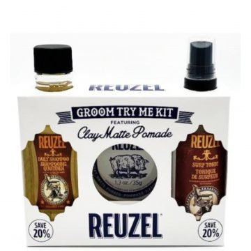 REUZEL GROOM TRY ME KIT FEATURING CLAY MATTE POMADE