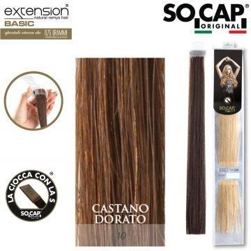 25 EXTENSION HUMAN HAIR LISCI 50/55 CM COL. 10