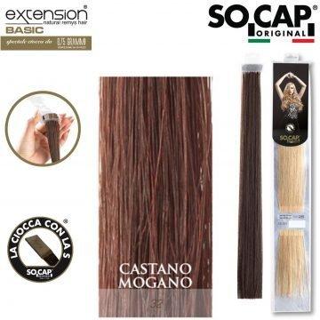 25 EXTENSION HUMAN HAIR LISCI 50/55 CM COL. 32