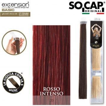 25 EXTENSION HUMAN HAIR LISCI 50/55 CM COL. 35