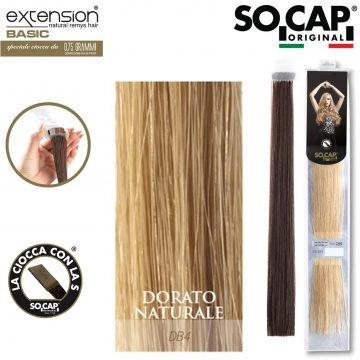 25 EXTENSION HUMAN HAIR LISCI 50/55 CM COL. DB4