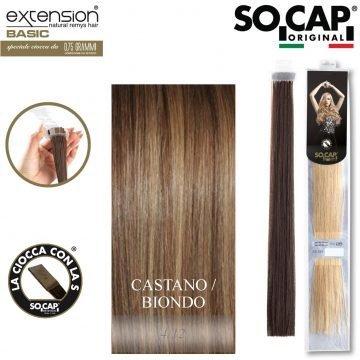 25 EXTENSION HUMAN HAIR LISCI 50/55 CM COL. 4/12