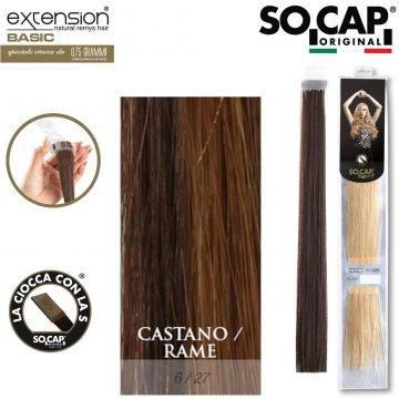25 EXTENSION HUMAN HAIR LISCI 50/55 CM COL. 6/27