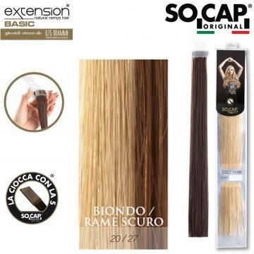 25 EXTENSION HUMAN HAIR LISCI 50/55 CM COL. 20/27
